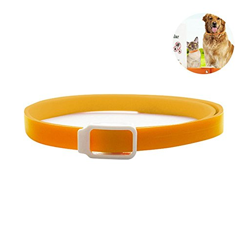 Aolvo Flea Collar for Dogs/Cats, Natural Herbal Repellent Collar - 3 Months Protection, All Sizes, Silicone Adjustable Tick/Mosquitos Prevention Effectively Pet Care Products - L