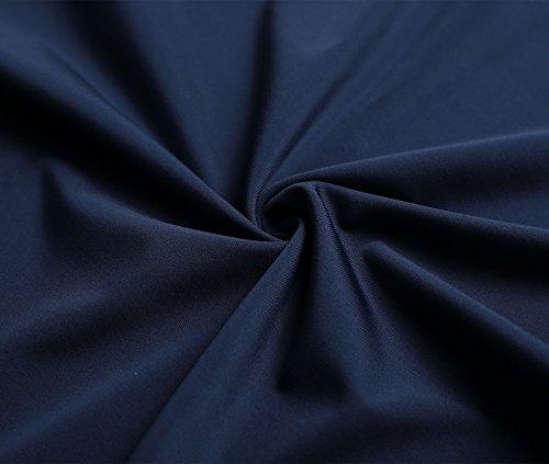 DJT-Mujeres Traje de Bano Banador de Una Pieza Bikini con Cuello Halter Azul