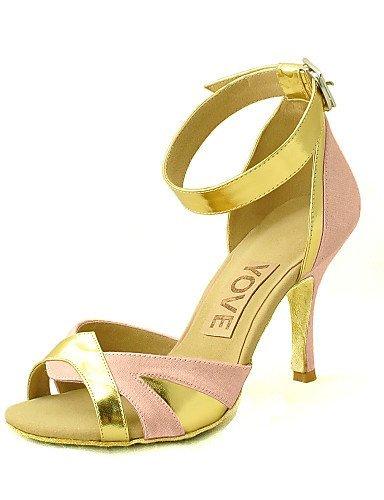 Latin White Customized Black ShangYi Shoes Salsa Purple Red Pink Purple Dance Blue Heel Customizable Yellow Women's Satin Fuchsia qF1wIpZF