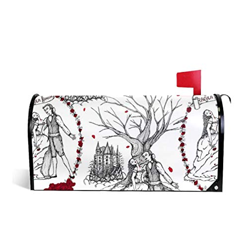 (Mailbox Covers Standard Size Magnetic Mail Cover Dracula Strikes Again Toile Wraps Letter Post Box Cover 21