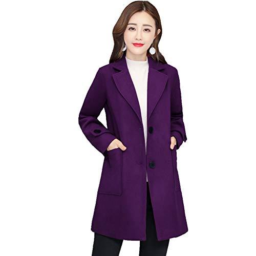 Chaquetas Para Mujer Doble Purple Mei Cara Gabardina Color Liso 1pcs De 5qpxxBtwXE
