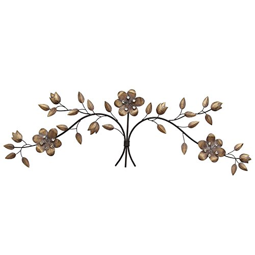 Stratton Home Decor SHD0236 Over The Door Floral Bouquet Wall Decor