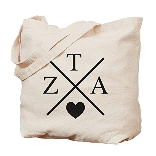 CafePress–Zeta Tau Alpha ZTA Sorority corazón Cruz–Gamuza de bolsa de lona bolsa, bolsa de la compra