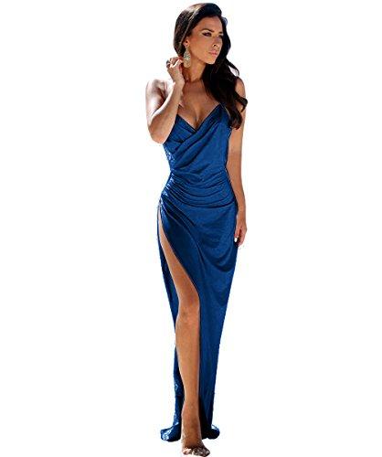 Linie Kleid Bodenlang Ballkleider für Abendkleid Tief V Rosa Rueckenfrei Lang Elegantes A Schwarz Rosa Ausschnitt Damen Fp5qn1Uw