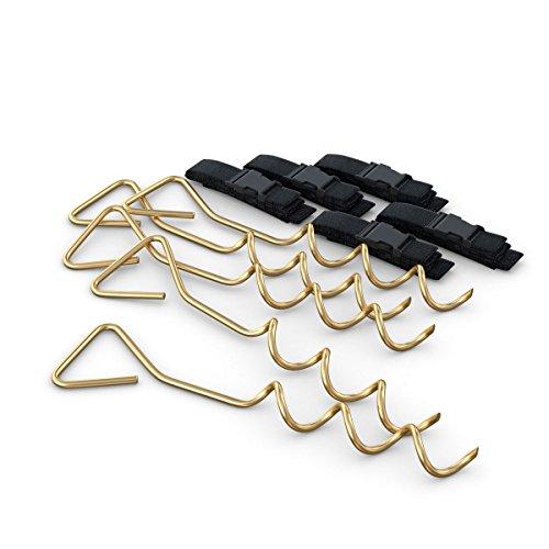 Ampel 24 Deluxe Sicherungsset XXL | 5 Erdanker zur Sicherung bei Wind | Bodenanker mit verstellbarem Gurt