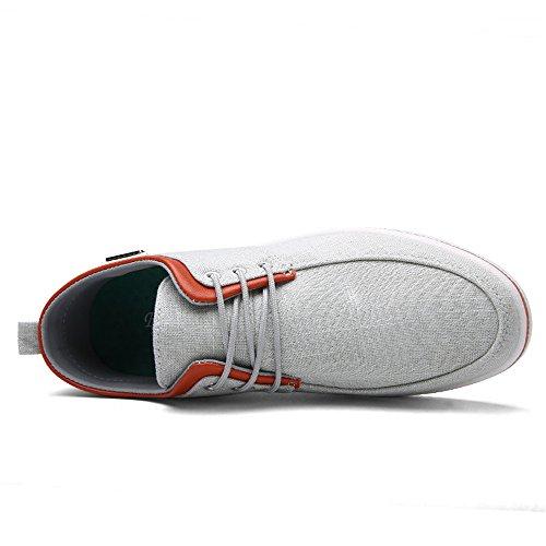 En Sommar Mens Klassisk Stil Tygskor Tillfälliga Mode Sneakers Grå
