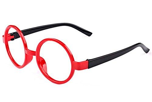 Schwarz und Rot Mode-Rund Brillengestelle für Kinder