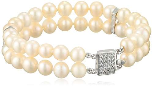 Bella-Pearl-Double-Cubic-Zirconia-Chinese-Freshwater-Cultured-Pearl-Bracelet