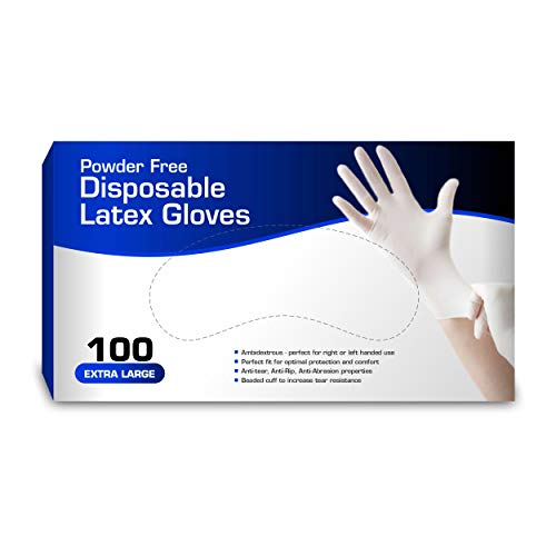 New Disposable Latex Gloves , Powder Free Comfortable 100 Gloves Per Box