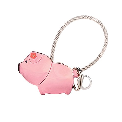 Pink Pig Charm - Colorido Cute Pig Charm Keychain Key Ring Decoration Present size Small (Pink)