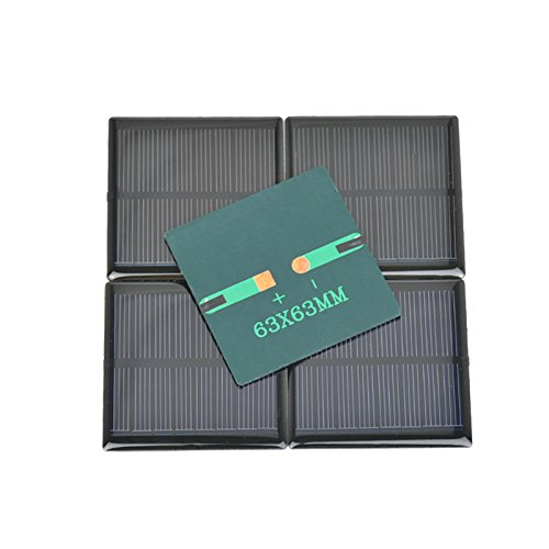 AOSHIKE 5Pcs 4V 90mA Micro Solar Panel DIY Photovoltaic Solar Cell Car Charger Lamp Light Sun Power Sunpower Solar Charger 63x63mm(F) by AOSHIKE (Image #5)