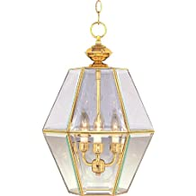Maxim Lighting 90350 Bound Glass Entry Foyer Pendant Fixture, Polished Brass Finish, 13 by 20.5-Inch