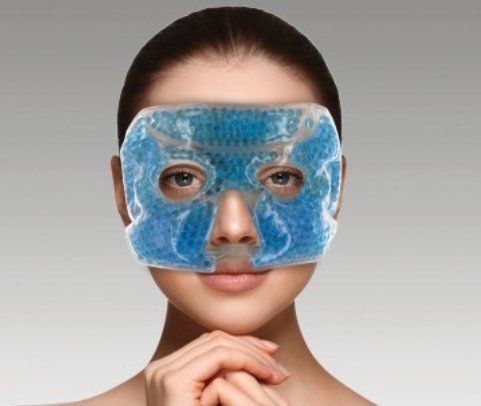 2 Gel Bead Eye Mask for Sleep/Great Couples Spa/Therapeutic & Relaxing At Bedtime/Hot & Cold Cooling Temperature Options/Ice Pack Helps Dark Circles & Relieve Headaches & Sinus Pressure