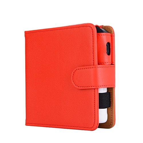 over Wallet Case, E-Cigarette Cover Case, Premium Leather Zipper Wallet Multifunctional Carry Case Removable Card Slot Pocket Pouch Flip Protective Case Compatible E-Cigarette ()