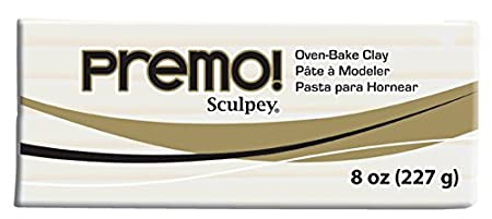 Premo Sculpey Polymer Clay 8oz, White Polyform PE08 5001