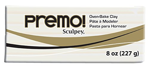 - Premo Sculpey Polymer Clay 8oz, White