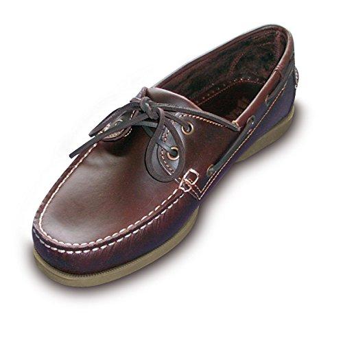 Navyline Herren Bootsschuh 2-Eye Classic Brown