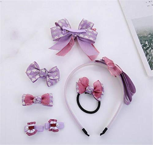 KEANER Pleasing and Durability Simple Style Children Hair Decorations Girl Hairclips Headband Set (Purple) by KEANER