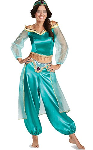 Womens Belly Dance Costumes Arabian Exotic Fancy Dress Indian Princess Uniform,As Shown,X-Large