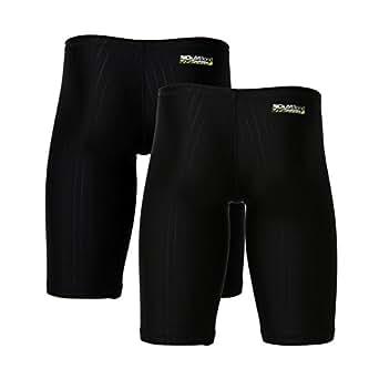 SAFS Men's Boy's Swim Jammers 2 Sets Breif Cut Training Low Rise Swimsuit Black 28