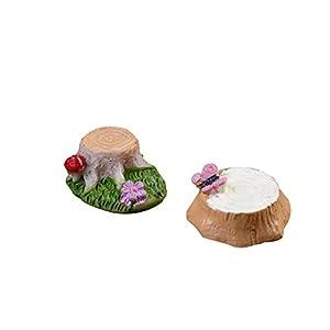 2X milopon decorazione Micro Paesaggio Mini Giardino In Miniatura Ceppo di albero in resina per casa delle bambole Mobili per casa delle bambole Mobili da giardino arredamento giardino 4 spesavip