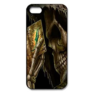 NFL Miami Dolphins Iphone 5 Case Cover Skull Poker Play Card Designed Iphone 5 Cases