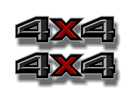 Street Legal Decals 2-4x4 Beveled Print Decals for Ford Pickup Highboy Truck Off Road Vinyl Stickers