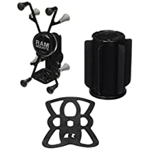 RAM Mounts (RAP-299-3-UN8) Ram-A-Can Ii Universal Cup Holder Mount with Universal X-Grip Ii Holder for 7 Tablets Including the Ipad Mini 1-3 by NationalMounts