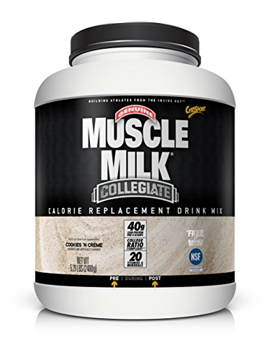 Price comparison product image Muscle Milk Collegiate Protein Powder,  Cookies 'N Crème,  20g Protein,  5.29 Pound