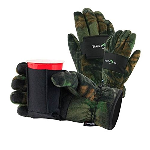 TailGatorTM Beverage Glove - The Ultimate Cold Weather Party Glove - Camo, Medium