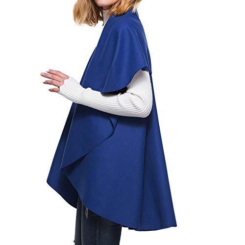 Maglione Elegante Invernale Caldo Cardigan Pullover Maniche Autunno Outwear Cappotto Donna Lunghe Giacca Blu Scialle Homebaby Mantellina A Vento Felpa wqBaaC8