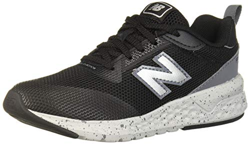 New Balance Boys' 515v2 Running Shoe, Black/Lead, 4 W US Big Kid