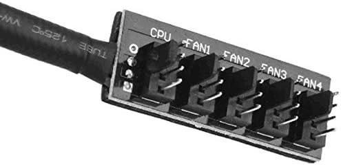 Kurphy 1 a 5 Adaptador de Divisor de CPU//Ventilador TX4 PWM de 4 Pines Adaptador de Divisor de Cable de alimentaci/ón Trenzado Adaptador de Divisor de Cubo
