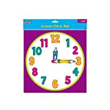 Teacher Building Blocks Lesson Clock Dial - Cartoon (Set of 2) judy clock, educational clock, teaching clock, analog clock, learn to tell time