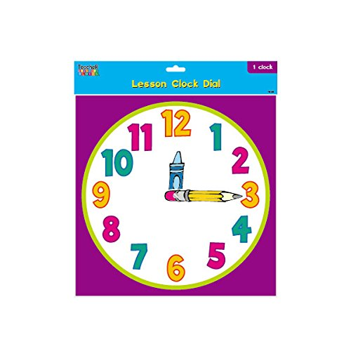 Teacher Building Blocks Lesson Clock Dial - Cartoon (Set of 2) judy clock, educational clock, teaching clock, analog clock, learn to tell time by Teacher Building Blocks