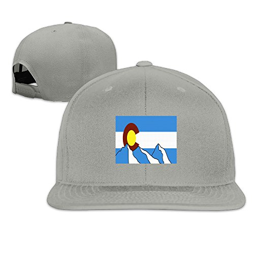 Colorado Flag 100% Cotton Baseball Cap Print Adjustable Size Durable 21.65-23.22inch For His And Hers Plain (Carson Design Plain)