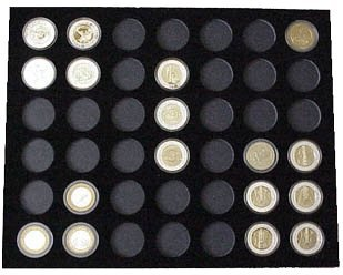 (Tiny Treasures, LLC. Black Silver Strike Display Insert for 42 Silver Strikes Casino Coins (Not Included))