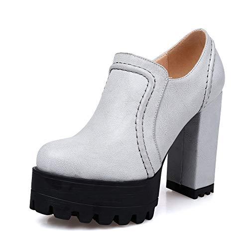 White Urethane Platform Shoes Pumps Off BalaMasa Solid Mule APL10750 Womens TaUWzq4nP