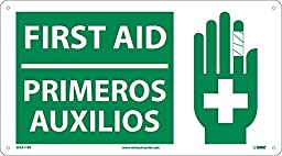 National Marker SPSA119R First Aid(Bilingual W/Graphic), 10\