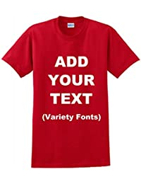 Custom T Shirts Add Your Own Text Message Unisex Cotton Personalized T Shirt