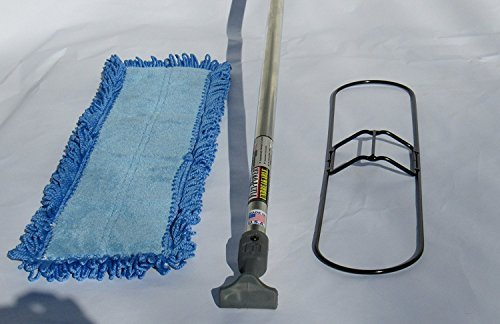 FlexSweep 24 Inch Dust Mop Frame with Closed Loop Cotton Dust Mop and Cushioned Bottom Microfiber Dust Mop and with Unbreakable Aero-Aluminum Handle . by FlexSweep (Image #1)