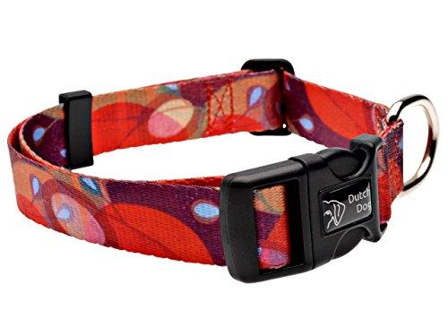 Dutch Dog Amsterdam Fashion Dog Collar, 15 to 20-Inch, Ruby Harvest