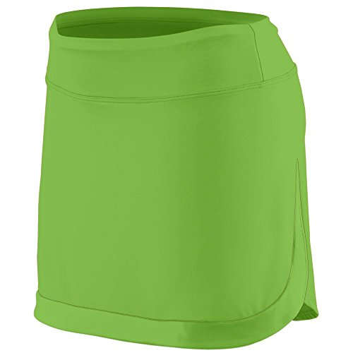 Augusta Sportswear AG2410 Women's Action Color Block Skort, Lime/Lime, XX-Large Pack