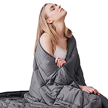 Image of Dornroscn Adults Weighted Blanket | 88''x104''-30lbs, King Size | Soft Heavy Blanket for Great All-Natural Sleep| 100% Cotton with Premium Glass Beads | Dark Grey Dornroscn B081PXJ78G Weighted Blankets