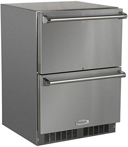 Marvel MO24RDS3NS Outdoor Refrigerated Drawers, Solid Doors with Drawer Locks, 24
