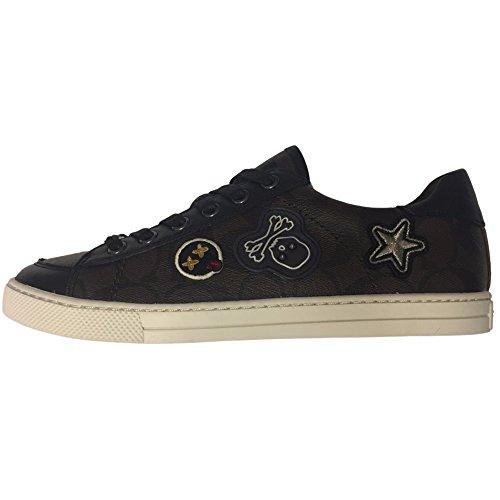 Coach Dames Portier Sneakers Bruin Mahonie / Zwart