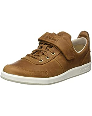 Court Side Oxford Medium Brown Leather Youth Boat Shoes