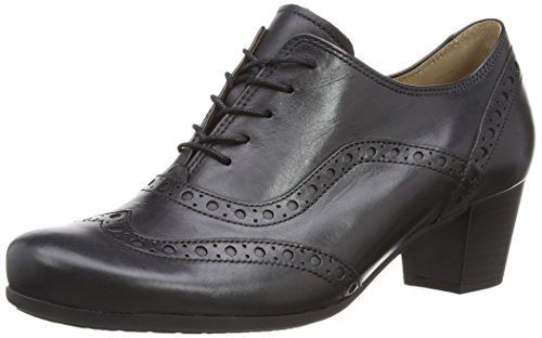 Gabor Women's, Denver, Brogue Lace-Up Black (Black Leather)