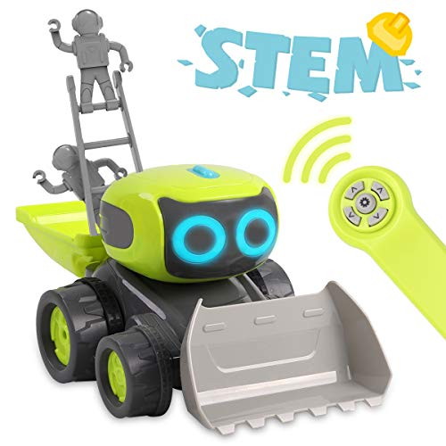 Remoking STEM RC Remote Control Engineering Robot Vehicle Toy, Smart Intelligent Electronic Educational Construction Car, Interactive Novelty Funny Gift of Building Block for Ages 3 and up (Best Remote Control Toy For 4 Year Old)