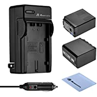 Powerextra 2 Pack 7800mAh Battery and Charger for Panasonic VW-VBD58 VW-VBD78 and Panasonic AG-3DA1 AG-AC8 AG-DVC30 AG-HPX171 AG-HPX250 AJ-PCS060 AJ-PX270 AJ-PX298 HC-MDH2 HC-X1000 HDC-Z10000